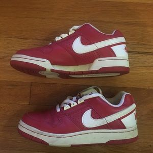 Red and white Nike Delta Force Sneakers